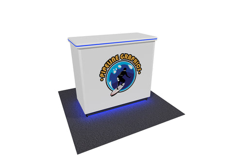 "40"" Platinum EdgeLit Exhibit Counter"