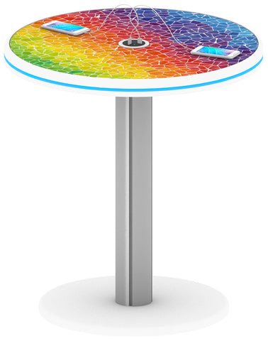 "30"" Café Charging Station Table - Round"