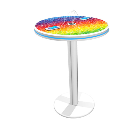 "40"" Bistro Charging Station Table - Round"