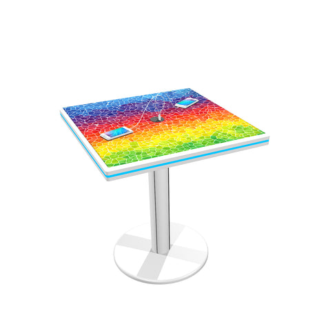 "30"" Café Charging Station Table - Square"