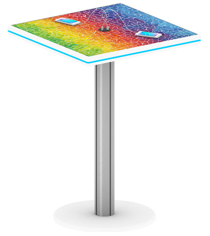 "40"" Bistro Charging Station Table - Square"