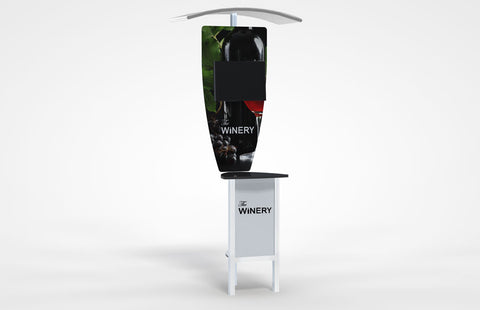 Alumalite Zero Kiosk Display With Canopy