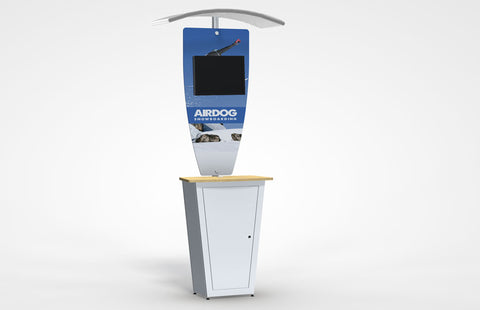 Alumalite Classic Kiosk Display With Canopy