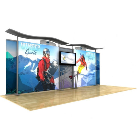 20ft Timberline™ Light Box Display w/ Wave Top & Fabric Sides