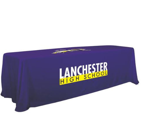6'/8' Convertible Table Throw (Full-Color Imprint, Two Locations)