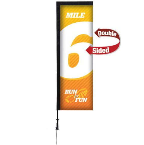 7' Premium Rectangle Sail Sign Kit – Double-Sided with Ground Spike
