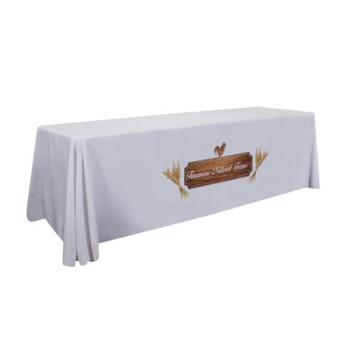 8' Standard Table Throw (Full-Color Dye Sublimation, Front Only)