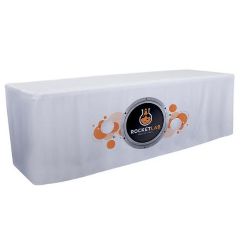 8' Fitted Table Throw (Full-Color Dye Sublimation, Front Only)