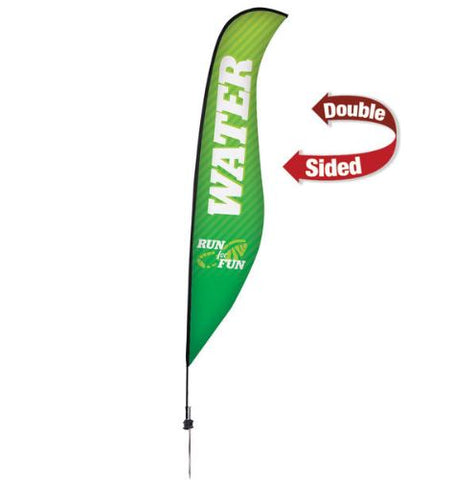 17' Premium Sabre Sail Sign Kit – Double-Sided with Ground Spike