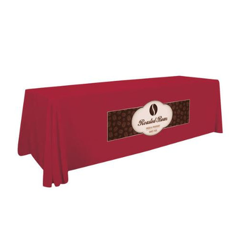 8' Stain-Resistant Table Cover - Full-Color Front