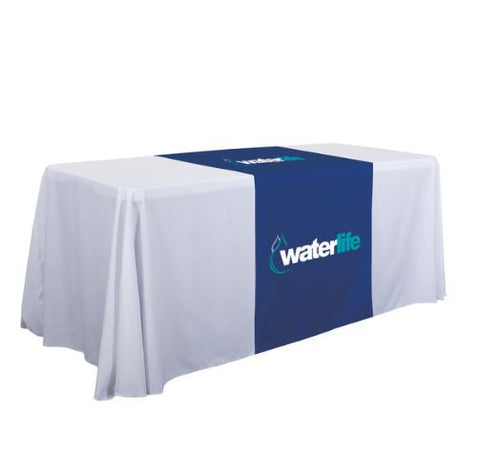 "28"" Standard Table Runner (Full-Color Imprint, Two Locations)"
