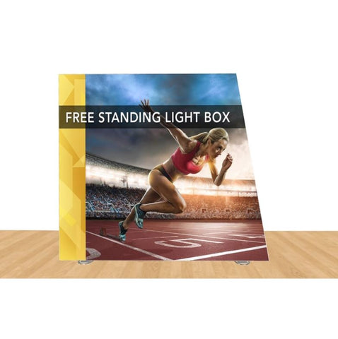 "Angled Freestanding Light Box Display 108"" X 96"