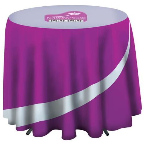 "Café-Height Round Table Throw with 27"" Overhang"