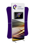 5' Custom Envision Kiosk Tension Fabric Graphic