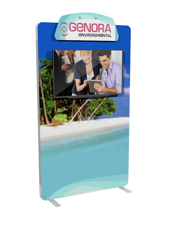 5' Envision Custom Fabric Graphic Kiosk
