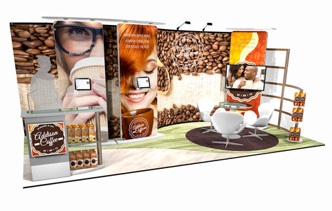 20' Instand Custom Exhibit Wall Display