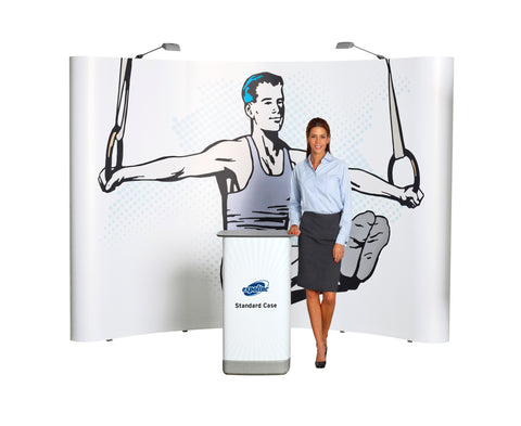 Expolinc 10' Curved Pop Up Display Kit