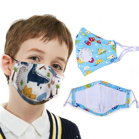 KIDS Custom-Printed Cotton Face Mask - 50+