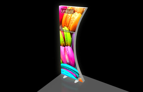 LumiWall Curved 3' x 8' LED Backlit Display