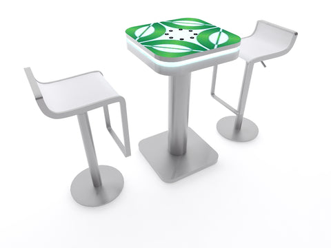 Charging Cafe Table - Rounded Square