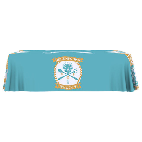 Budget Table Throw Full Color 8 Ft. 4-Sided with Full Print