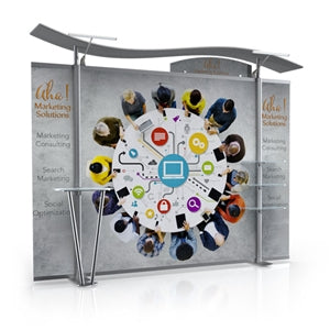 10ft Timberline™ Modular Display w/ Wave Top & Fabric Sides