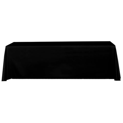 Table Throw Stock 8 Ft. Black 4 Sided (No Print)