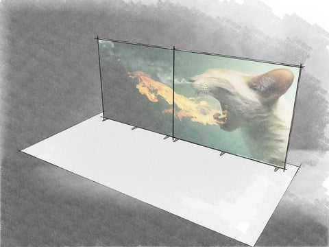 Zilla FIRE. 20' Backlit Display, Double-sided