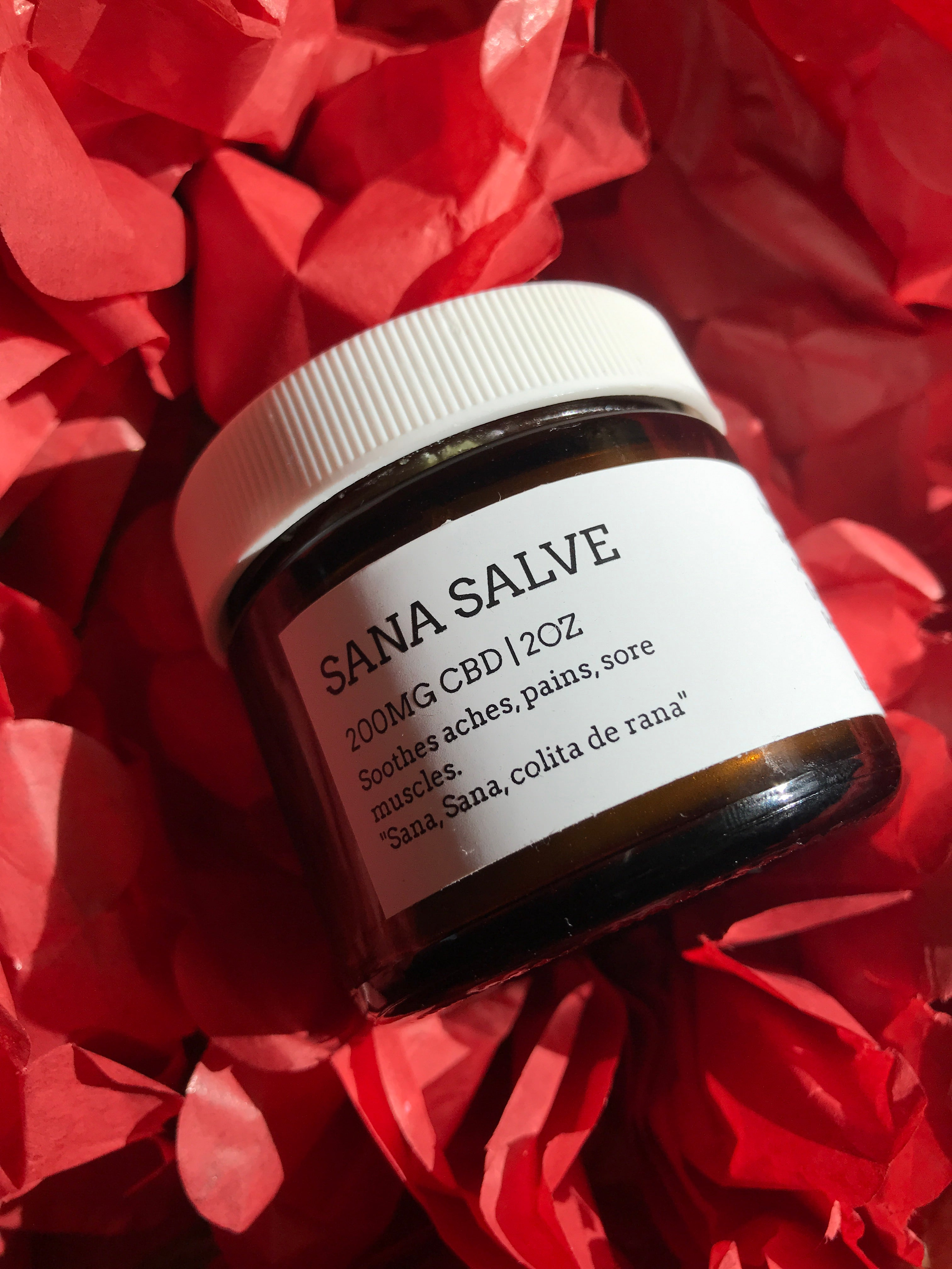 Sana Salve (200mg CBD), Organic Muscle and Chest Rub - Happy Honey Co.