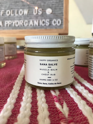 Sana Salve , Organic Muscle and Chest Rub