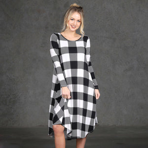 Casual Long Sleeve Evening Party Mini Dress With Pockets - stimur
