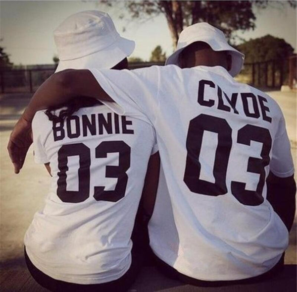 BONNIE CLYDE Couple T-shirt - stimur