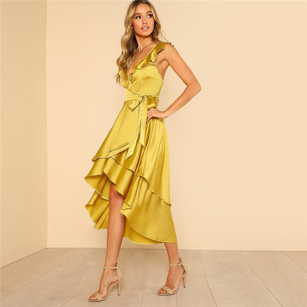 Backless Tiered Ruffle Maxi Dress - stimur