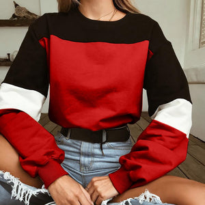 Color Sweatshirt Long Sleeve