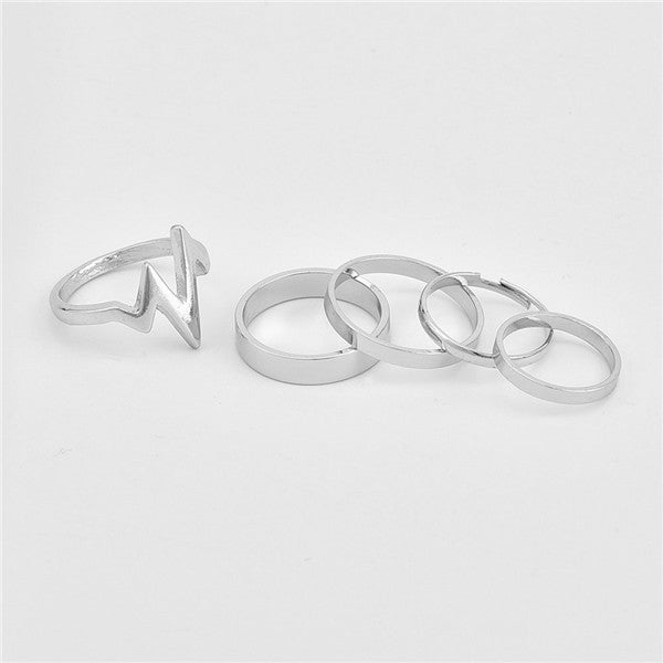 1 Set Lightning Waves Rings - stimur
