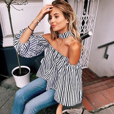 Stripe Off-the-Shoulder - stimur