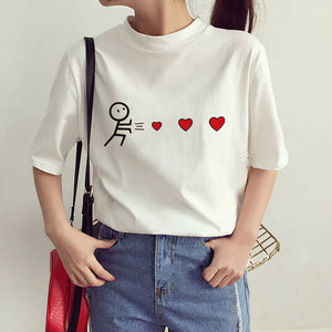 Casual  Heart T-Shirt - stimur