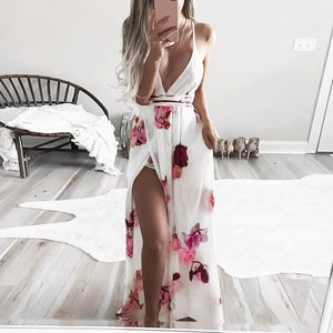 Boho Floral Long Maxi Dress - stimur