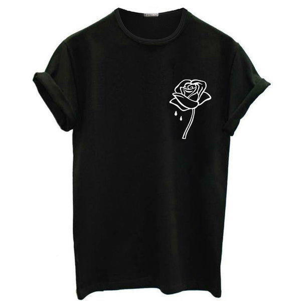 Flower Printed T-shirt - stimur