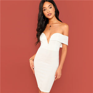 Modern Night Out Off the Shoulder Mini Dress