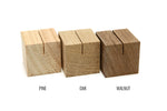 Small Wood Place Card Holders | Set of 10