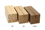 Large Wood Menu Holders | Set of 10