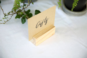 Large Wood Menu Holders | Set of 25
