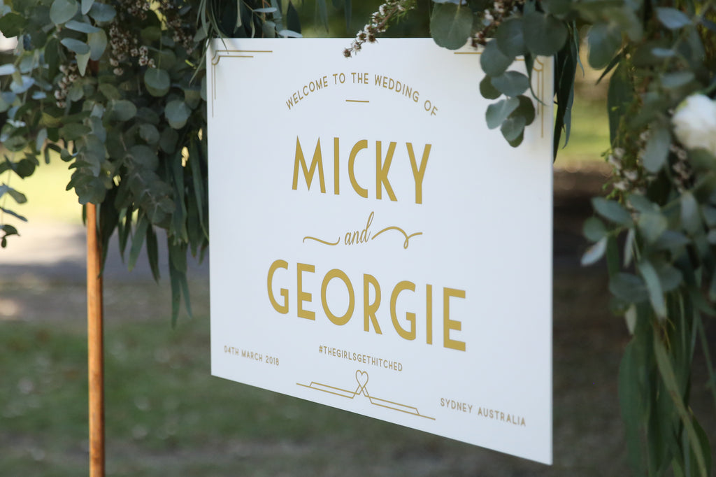 Hanging welcome wedding sign, choose your colour