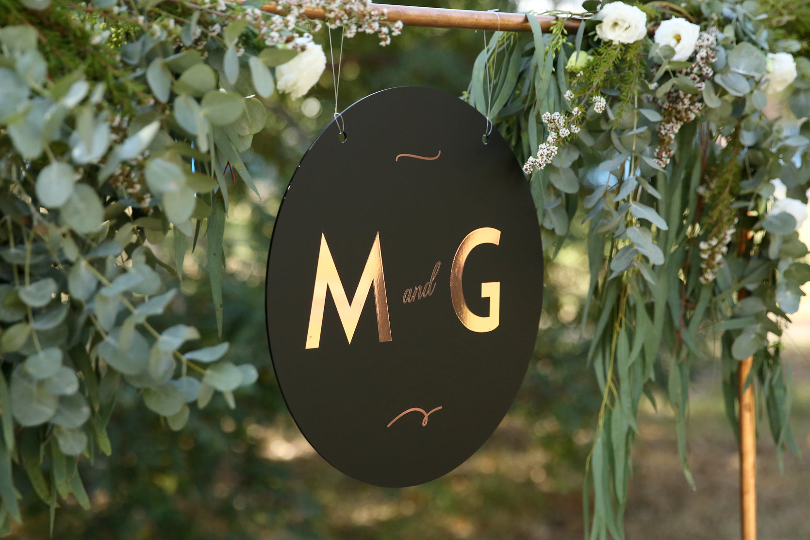 Art Deco Monogram Sign