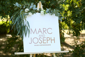 Customise your wedding names sign with Every Other Sunday