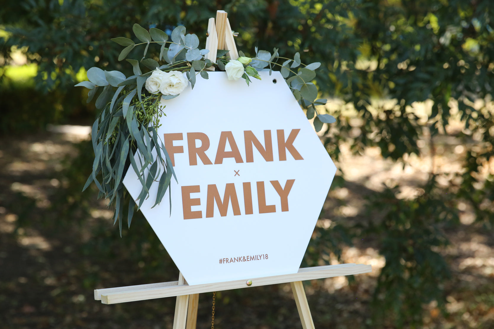 Statement style names wedding sign
