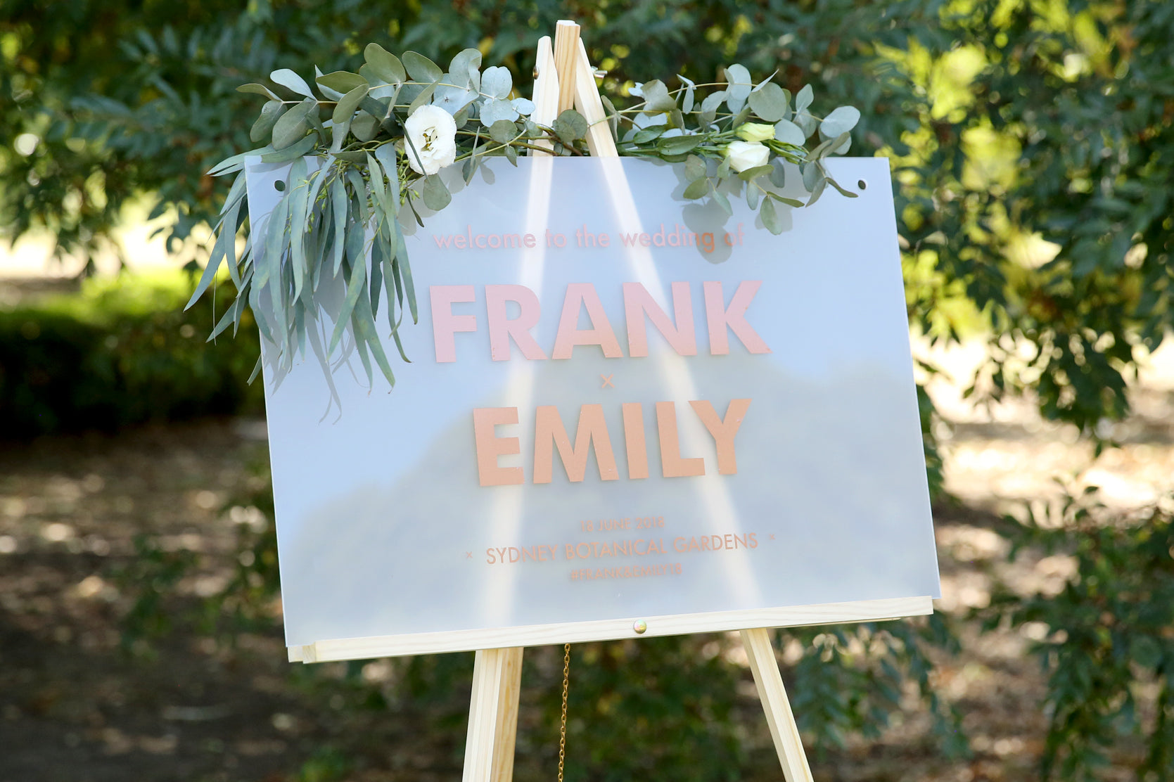 Statement welcome wedding sign every other sunday welcome wedding sign on easel junglespirit Choice Image