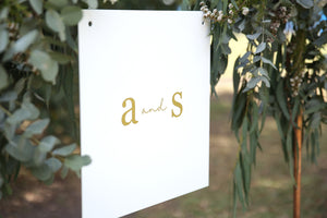 Simple, modern monogram wedding sign - customise yours