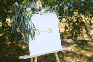 Timeless wedding monogram - customise size, shape, colour